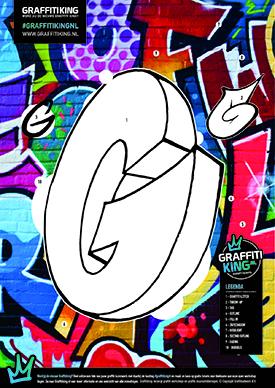 Graffitiking kleurplaten