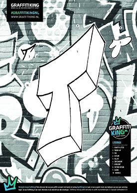 Graffitiking kleurplaat